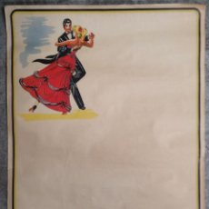 Carteles Publicitarios: CARTEL PUBLICIDAD SIRONS DE LUXE BERGER DANCING MONOPOLE BAILE SALON PAREJA BAR RESTAURAN FRANCIA. Lote 49642615