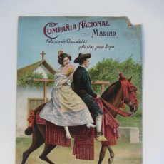 Carteles Publicitarios: ANTIGUO CARTEL PUBLICITARIO EN CARTON SERIGRAFIADO DE - CHOCOLATES MATIAS LOPEZ - 1912 - MADRID - IL. Lote 49961098