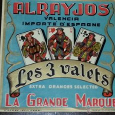 Carteles Publicitarios: CARTEL PUBLICITARIO LES VALETS .ALRAYJOS .VALENCIA. Lote 50667383