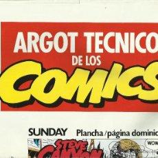 Carteles Publicitarios: ARGOT TÉCNICO DE LOS COMICS. Lote 50728143