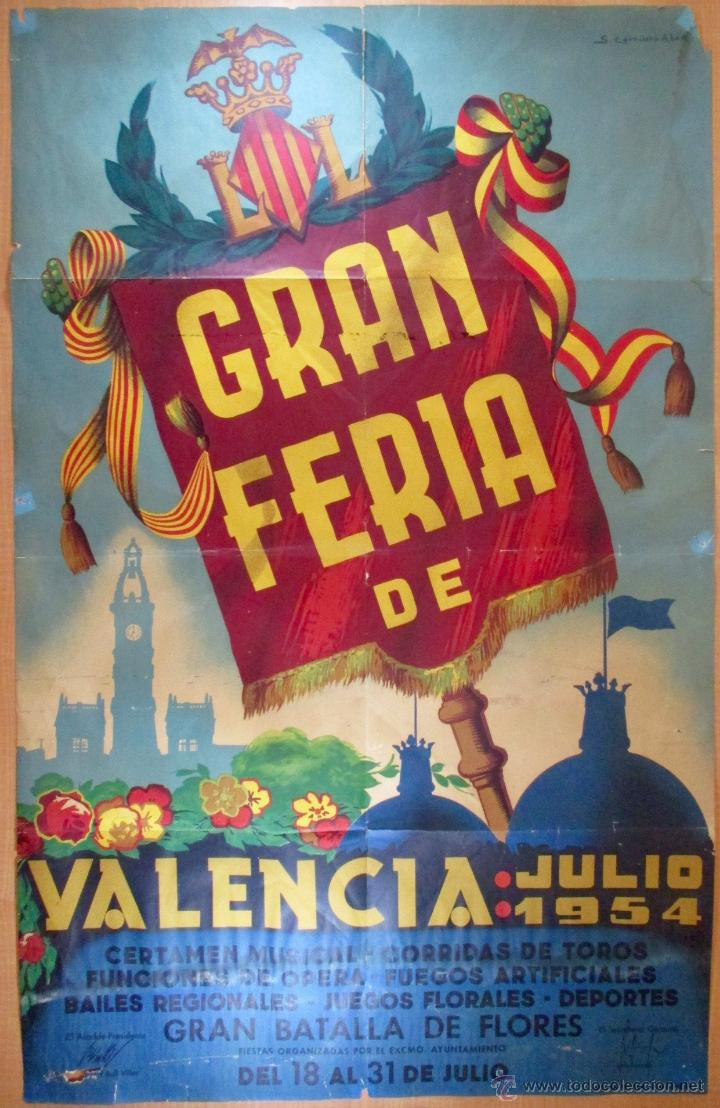 Cartel gran feria de valencia 1954 comprar carteles antiguos publicitarios en todocoleccion - Carteles publicitarios antiguos ...