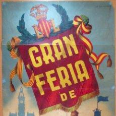 Carteles Publicitarios: CARTEL GRAN FERIA DE VALENCIA 1954. Lote 51427476