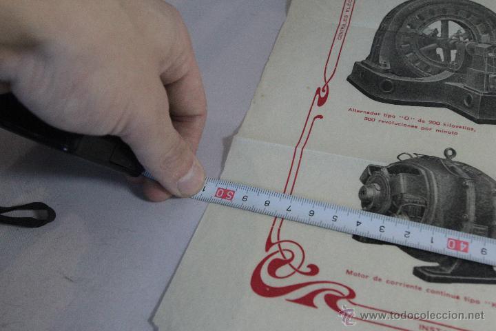 Carteles Publicitarios: CONSTRUCCIONES MECANICAS Y ELÉCTRICAS, GRAN PUBLICIDAD, 40X50CM. GERONA -doce- FINALES XIX-PPXX - Foto 4 - 51438693