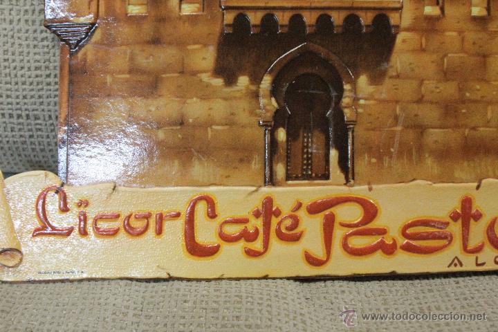 Carteles Publicitarios: CARTEL PUBLICITARIO EN CARTÓN TROQUELADO, CAFÉ LICOR PASTOR, AÑOS 40-50, ESTADO EXCEPCIONAL. ALCOY - Foto 2 - 54039932