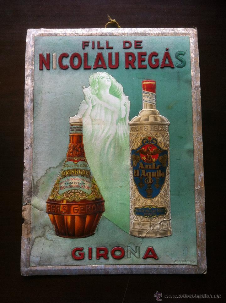 Cartel publicitario con relieve de licores an s comprar carteles antiguos publicitarios en - Carteles publicitarios antiguos ...