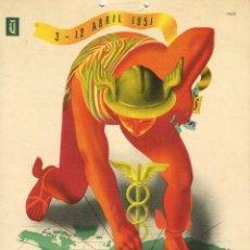 Carteles Publicitarios: CARTEL 56A. FERIA DE MUESTRAS INTERNACIONAL DE UTRECHT. ODEYE. 30 X 20 CM. UTRECHT. 1956. Lote 52690673