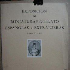 Carteles Publicitarios: CARTEL DE LA EXPOSICION DE MINIATURAS - RETRATOS - BARCELONA 1956. Lote 52734949