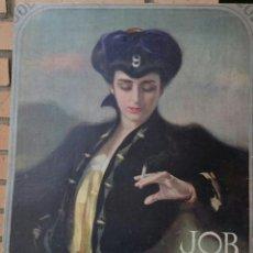 Carteles Publicitarios: RAMÓN CASAS,BARCELONA,IMPRESIONANTE CARTEL DE PAPEL DE FUMAR JOB,AÑO 1900,MUY RARO. Lote 52745735