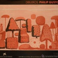 Carteles Publicitarios: CARTEL DIBUIXOS PHILIP GUSTON. 1989. GUSTON, PHILIP. 54 X 66 CM. Lote 52862064