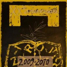 Carteles Publicitarios: CARTEL XXÈ ANIVERSARI UNIVERSITAT POMPEU FABRA 2009-2010. VILADECANS, JOAN-PERE. 77 X 50 CM. Lote 52884950