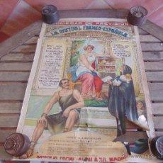 Carteles Publicitarios: CARTEL ORIGINAL DEL AÑO 1921 LA MUTUA FRANCO ESPAÑOLA CAJA DE AHORROS POPULAR SISTEMA TONTI MADRID. Lote 52980009