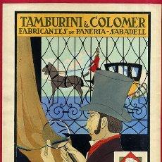 Affiches Publicitaires: CARTEL PUBLICIDAD, SERIGRAFIA, TABURINI Y COLOMER , SABADELL , ORIGINAL. Lote 53337505