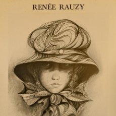Carteles Publicitarios: CARTEL RENEE RAUZY. OLIS I PASTELS. 60 X 42 CM. OLOT, CATALUNYA 1976. Lote 251046415