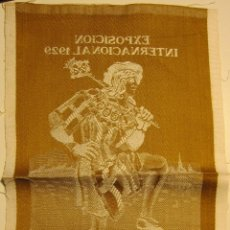 Carteles Publicitarios: CARTEL ORIGINAL TEXTIL EXPOSICION INTERNACIONAL BARCELONA 1929. FERNANDO CARNÉ,. Lote 54414819