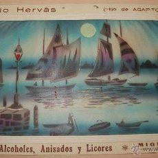 Carteles Publicitarios: PRECIOSO CARTEL TROQUELADO DE ANTONIO HERVÁS - FÁBRICA DE ALCOHOLES, ANISADOS Y LICORES - AÑO 1917. Lote 54437088