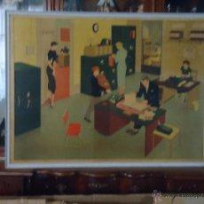 Carteles Publicitarios: ORIGINAL RARO GRAN CARTEL LITOGRAFIA - ELIZABETH SKILTON GENERAL SERVICE ENGLISH WALLL PICTURES : 7. Lote 54556505