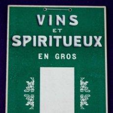 Carteles Publicitarios: ANTIGUO CARTEL DE VINO-VINS ET SPIRITUEUX GROS M&H LEBLAN. 1940.ORIGINAL. CHAMPAGNE. BELFORT-FRANCIA. Lote 55050812