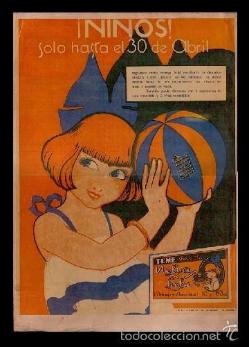 33 CARTEL PUBLICITARIO DE NELIA CON LA OFERTA DE SU CHOCOLATE CON LECHE - TAMAÑO 30 X 42 CM. VER (Coleccionismo - Carteles Gran Formato - Carteles Publicitarios)