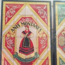 Carteles Publicitarios: MURAL PUBLICITARIO EN AZULEJO DE ANIS MONTAÑES DE SANTANDER. Lote 56468208