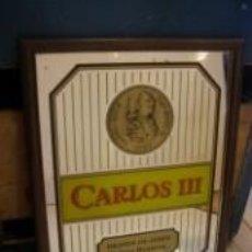Carteles Publicitarios: CUADRO-ESPEJO BRANDY CARLOS III. Lote 56564477