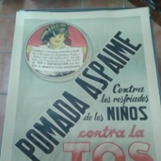 Carteles Publicitarios: CARTEL PUBLICITARIO ORIGINAL, FARMACIA, MEDICAMENTOS, 1940, POMADA ASPAIME. Lote 56599329