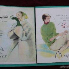 Carteles Publicitarios: DOS CARTELES REVERIE Y LAPIZ MARLICE, PUBLICIDAD AÑOS 40 - 50S. Lote 56621386