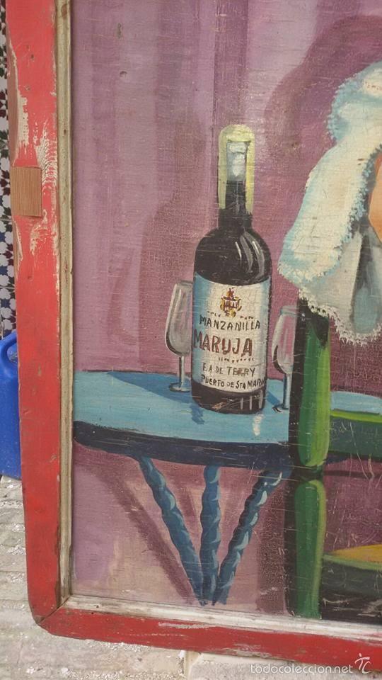 Carteles Publicitarios: cuadro antiguo publicidad de feria vinos - Foto 2 - 57750015