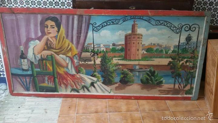 Carteles Publicitarios: cuadro antiguo publicidad de feria vinos - Foto 4 - 57750015