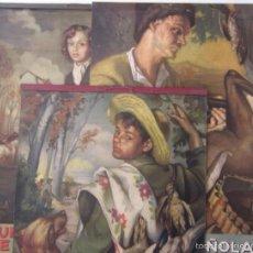 Carteles Publicitarios: TRES CARTELES: UNION ESPAÑOLA DE EXPLOSIVOS - AÑOS: 1947,1948,1954 - OBRA DE FRANCISCO RIBERA. Lote 58005589