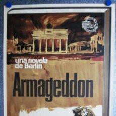 Carteles Publicitarios: BONITO POSTER PUBLIC. NOVELA ARMAGEDDON. NOVELA DE BERLIN. LEON URIS. JOYAS LITERARIAS. 1965. LITOG. Lote 59516743