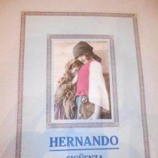 Carteles Publicitarios: HERNANDO - SIGÜENZA - MIDE 24,5 X 35 CM. Lote 61760852