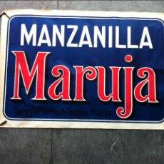 Carteles Publicitarios: ANTIGO Y GRAN CARTEL MANZANILLA MARUJA 93 CM. X 63 CM.. Lote 67205257