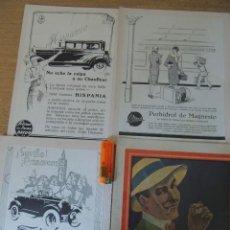 Carteles Publicitarios: LOTE 4 ANUNCIOS RECORTADOS DE REVISTAS ANTIGUAS. Lote 67503909