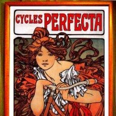 Carteles Publicitarios: CARTEL DE - ALFONS MUCHA - AÑO 1902 --CICLES PERFECTA - CARTEL PUBLICITARIO DE BICICLETAS PERFECTA,. Lote 231089255
