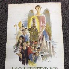 Carteles Publicitarios: ORIGINAL CARTEL POSTER MONTSERRAT 1947 ORIGINAL NO ENTELADO. Lote 68924617