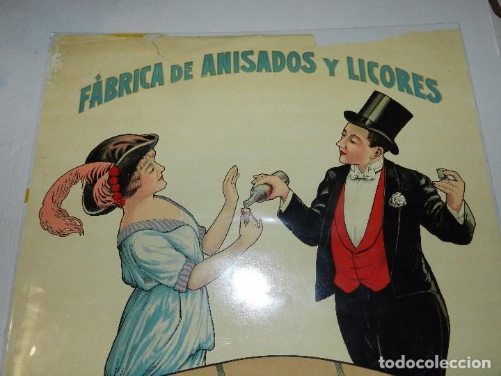 Carteles Publicitarios: (M) CARTEL ORIGINAL - FABRICA DE ANISADOS Y LICORES C FIGUERAS , BARCELONA, LIT. SABADELL - Foto 3 - 69237225