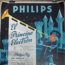 Carteles Publicitarios: CARTEL PELICULA EL PRINCIPE ELECTRÓN PUBLICIDAD DE PHILIPS IMPRESO POR FOURNIER .. . .. Lote 69950517