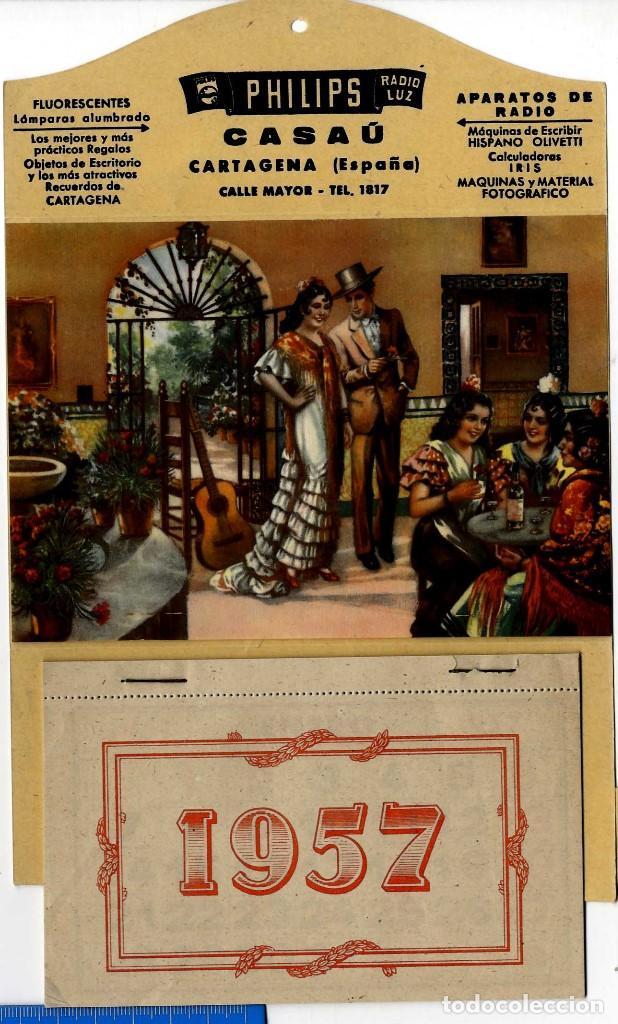 Calendario Del Ano 1957.Cartagena Bonito Calendario Ano 1957 Publicidad Casau Con Todos Los Meses