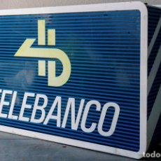 Carteles Publicitarios: LUMINOSO DE CAJERO TELEBANCO. Lote 75154523