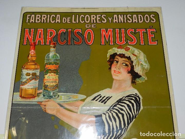 Carteles Publicitarios: CARTEL FABRICA DE LICORES Y ANISADOS DE NARCISO MUSTE , HIJO DE JUAN GILI , REUS - Foto 2 - 77182001