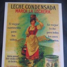 Carteles Publicitarios: CARTEL PUBLICITARIO. LECHE CONDENSADA LA LECHERA. Lote 77660781