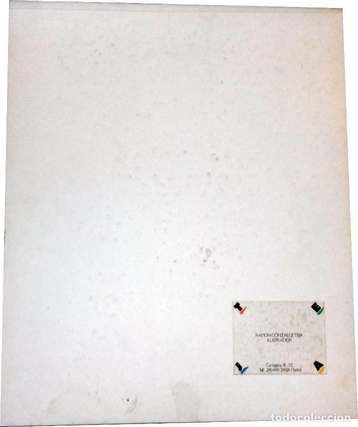 Carteles Publicitarios: VELANDO ARMAS - ORIGINAL PARA USO PUBLICITARIO - SERIE DON QUIJOTE DE LA MANCHA (1979) - Foto 2 - 77997817