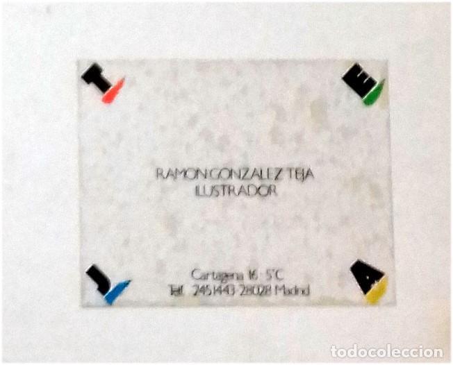 Carteles Publicitarios: VELANDO ARMAS - ORIGINAL PARA USO PUBLICITARIO - SERIE DON QUIJOTE DE LA MANCHA (1979) - Foto 3 - 77997817