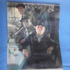 Carteles Publicitarios: CARTEL DE CALENDARIO UNIÓN ESPAÑOLA DE EXPLOSIVOS 1965, ILUSTRADO POR JOSÉ BARDASANO, EN LA TABERNA. Lote 81268364