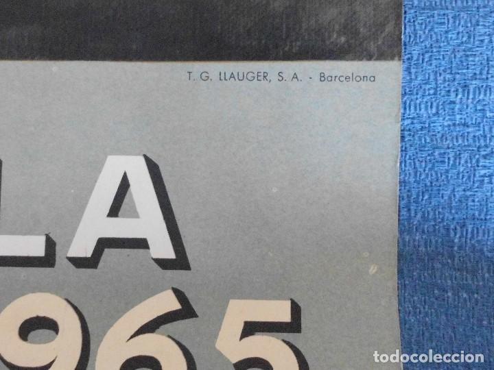 Carteles Publicitarios: CARTEL DE CALENDARIO UNIÓN ESPAÑOLA DE EXPLOSIVOS 1965, ILUSTRADO POR JOSÉ BARDASANO, EN LA TABERNA - Foto 2 - 81268364
