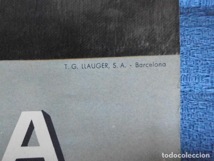 Carteles Publicitarios: CARTEL DE CALENDARIO UNIÓN ESPAÑOLA DE EXPLOSIVOS 1965, ILUSTRADO POR JOSÉ BARDASANO, EN LA TABERNA - Foto 4 - 81268364