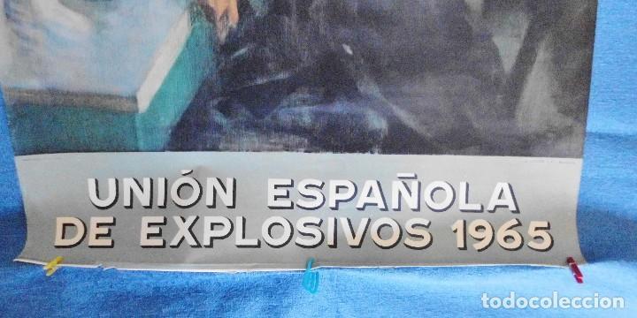 Carteles Publicitarios: CARTEL DE CALENDARIO UNIÓN ESPAÑOLA DE EXPLOSIVOS 1965, ILUSTRADO POR JOSÉ BARDASANO, EN LA TABERNA - Foto 5 - 81268364