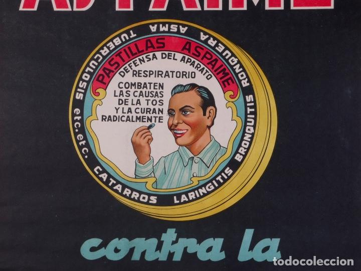 CARTEL PASTILLAS ASPAIME, AÑOS 40 (Coleccionismo - Carteles Gran Formato - Carteles Publicitarios)