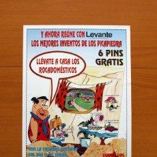 Carteles Publicitarios: LEVANTE, EL MERCANTIL VALENCIANO 1994 - LOS MEJORES INVENTOS DE LOS PICAPIEDRA - PÓSTER TAMAÑO 28X39. Lote 82806444