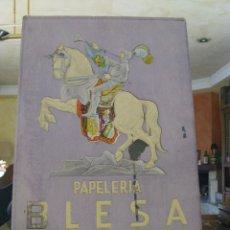 Carteles Publicitarios: CARTEL ANTIGUO CON RELIEVES PAPELERIA BLESA, VALENCIA. Lote 85727608